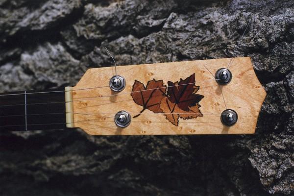 Leaf inlay, Oak, Walnut, Cherry, Maple