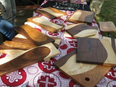 Assorted hardwood cutting boards