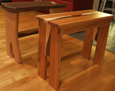 Oak, Cherry, Walnut and Maple stools