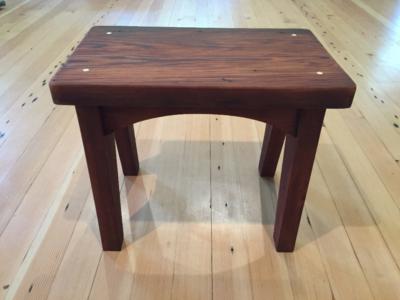 Redwood stool