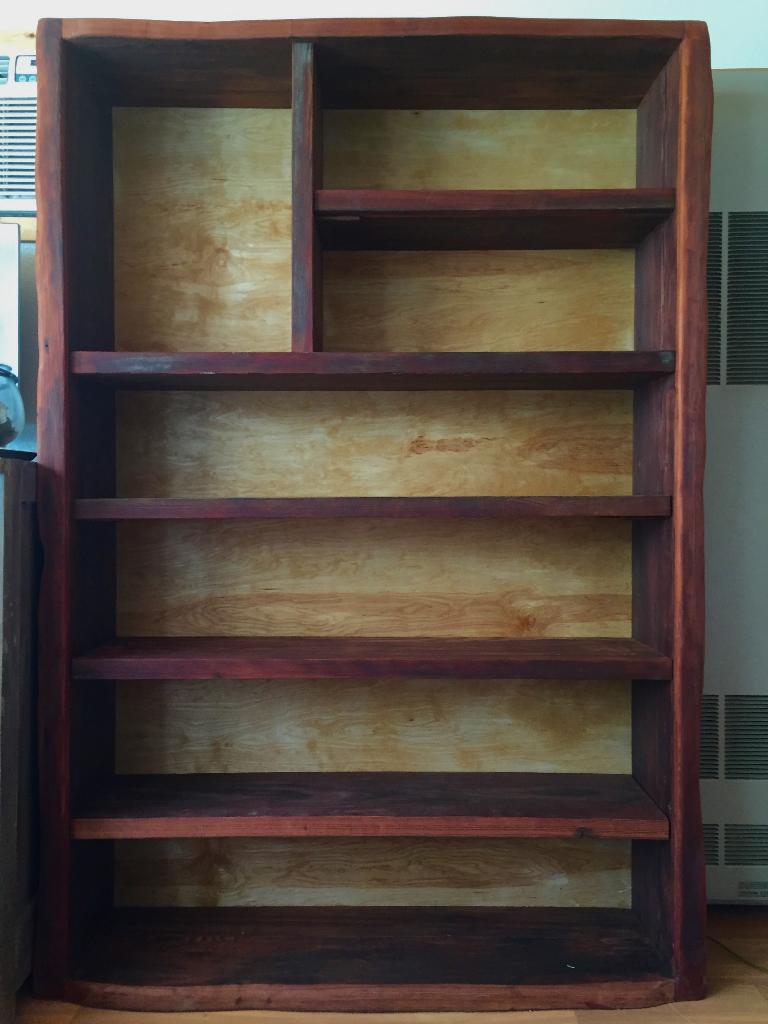 redwood birch bookshelf