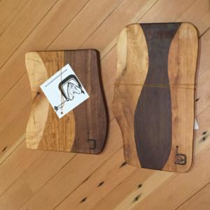 cherry walnut maple cutting board